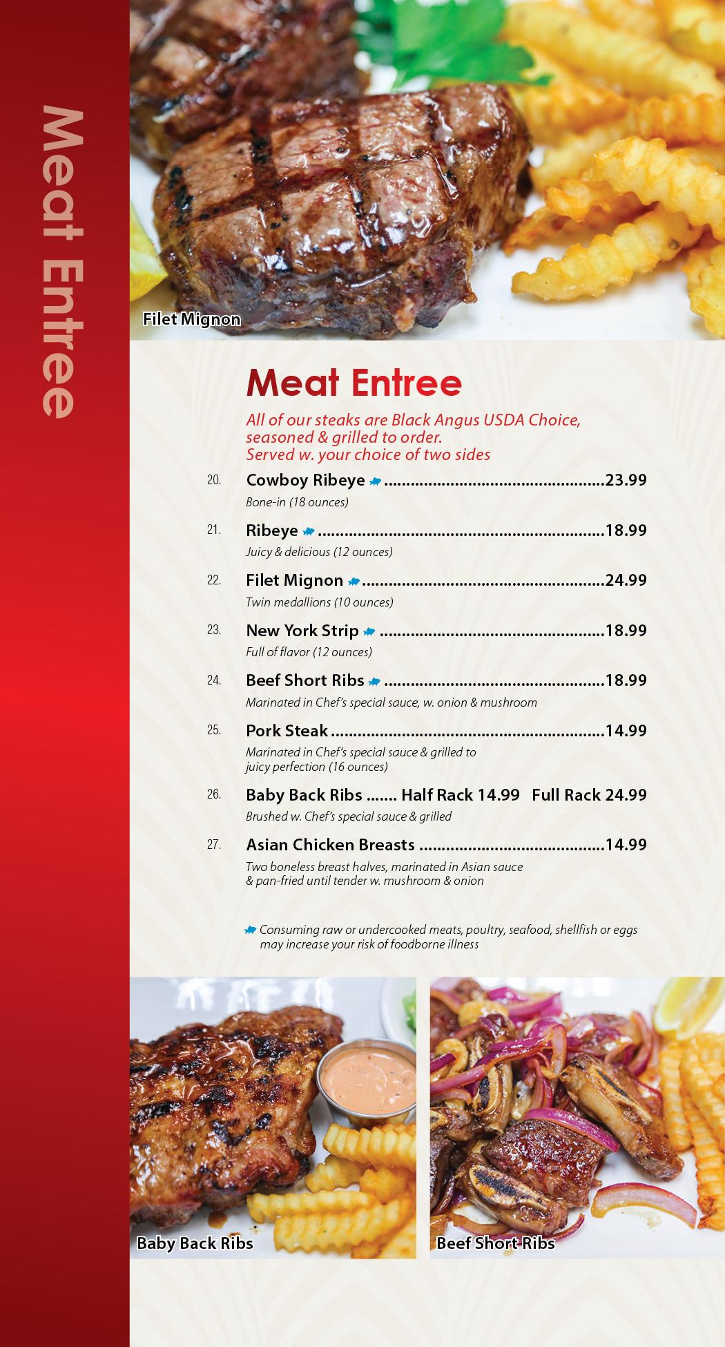 Sunnys Restaurant Dine In Insert 03-186