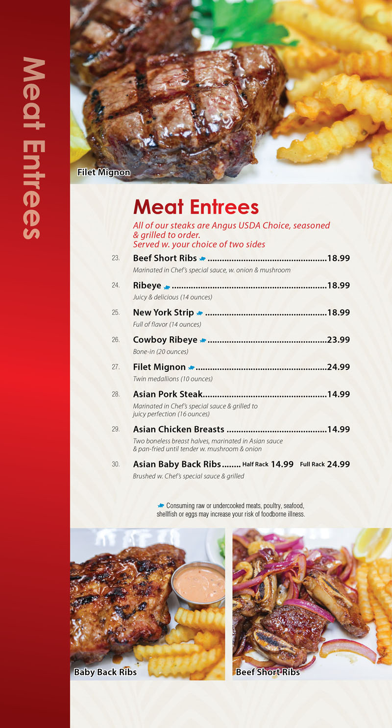 Sunnys Restaurant Dine In Insert 10-186
